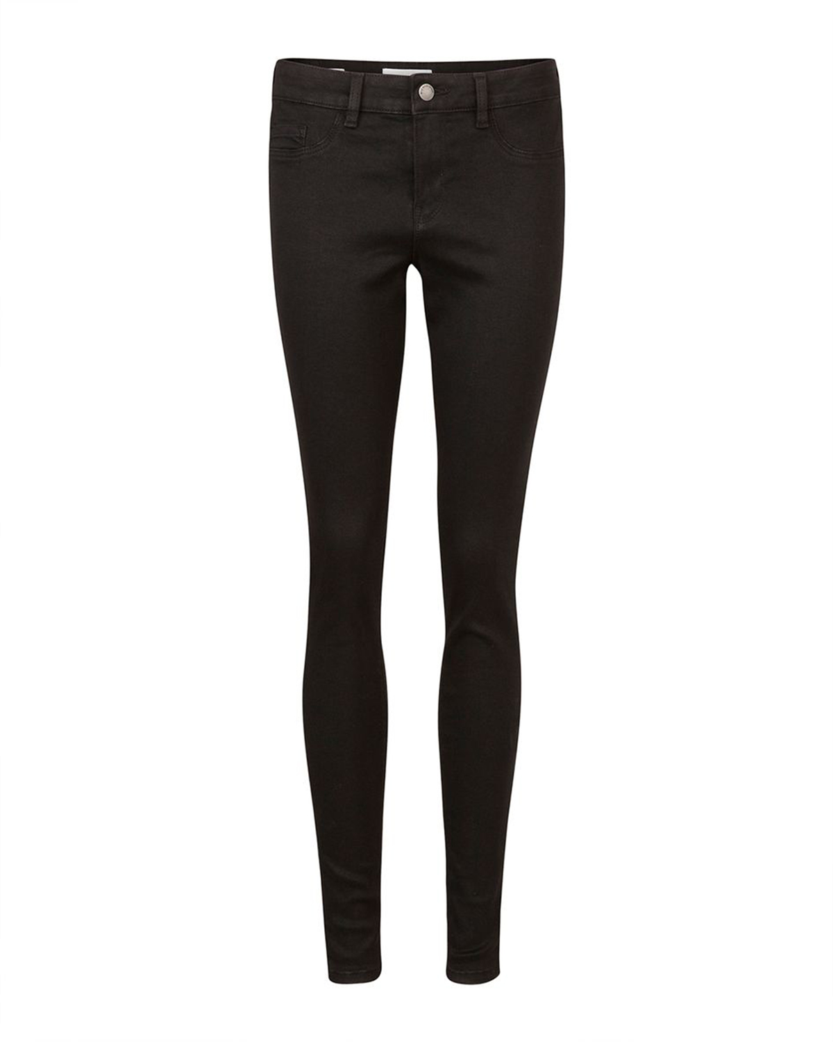 Dames mid rise super skinny high stretch jegging