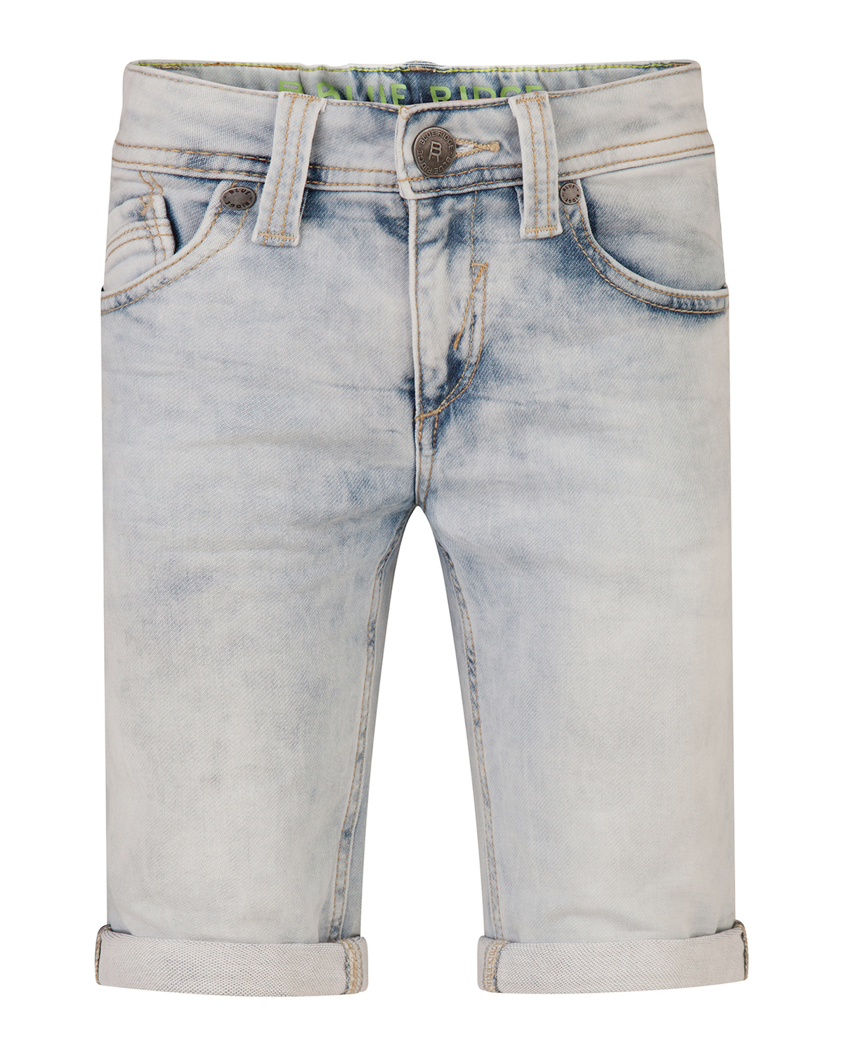 Jongens slim fit jog denim short