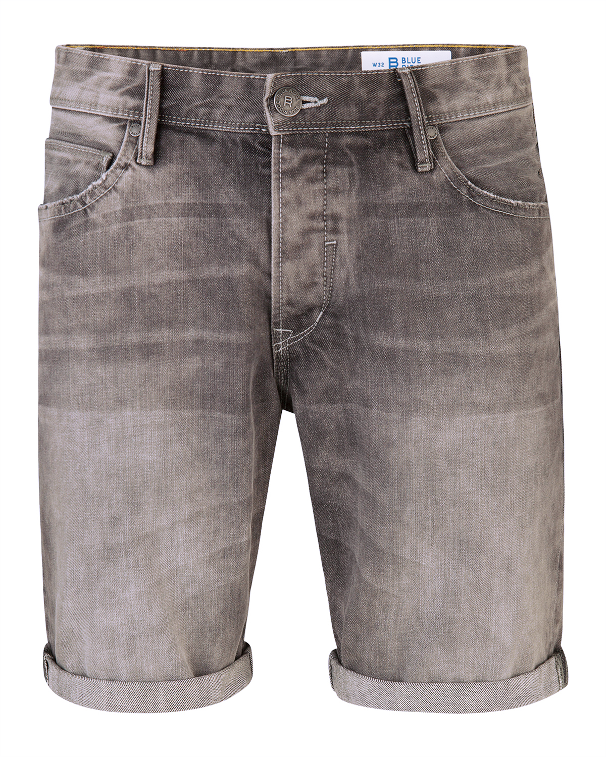 Heren regular straight denim short