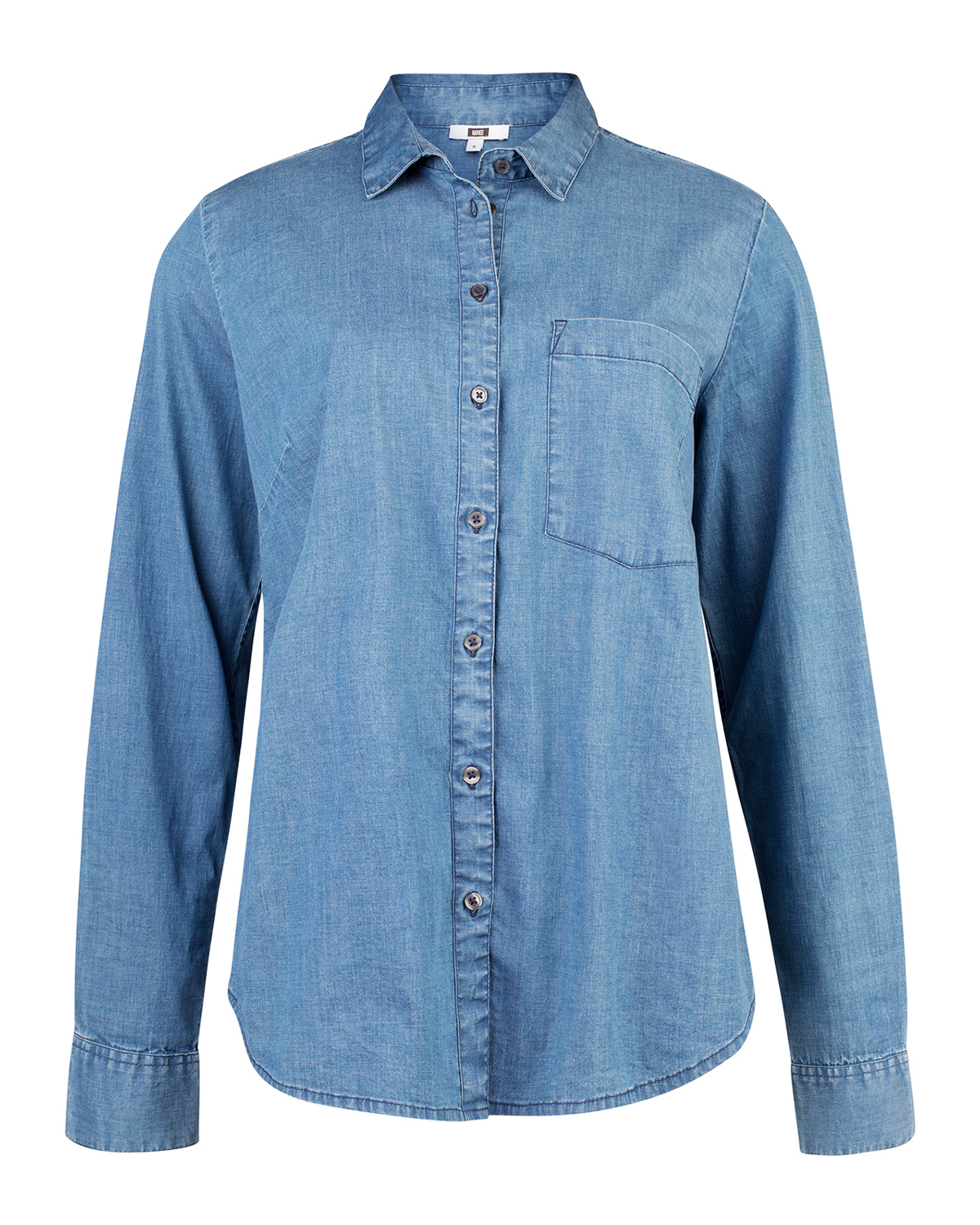 Dames regular fit denim blouse