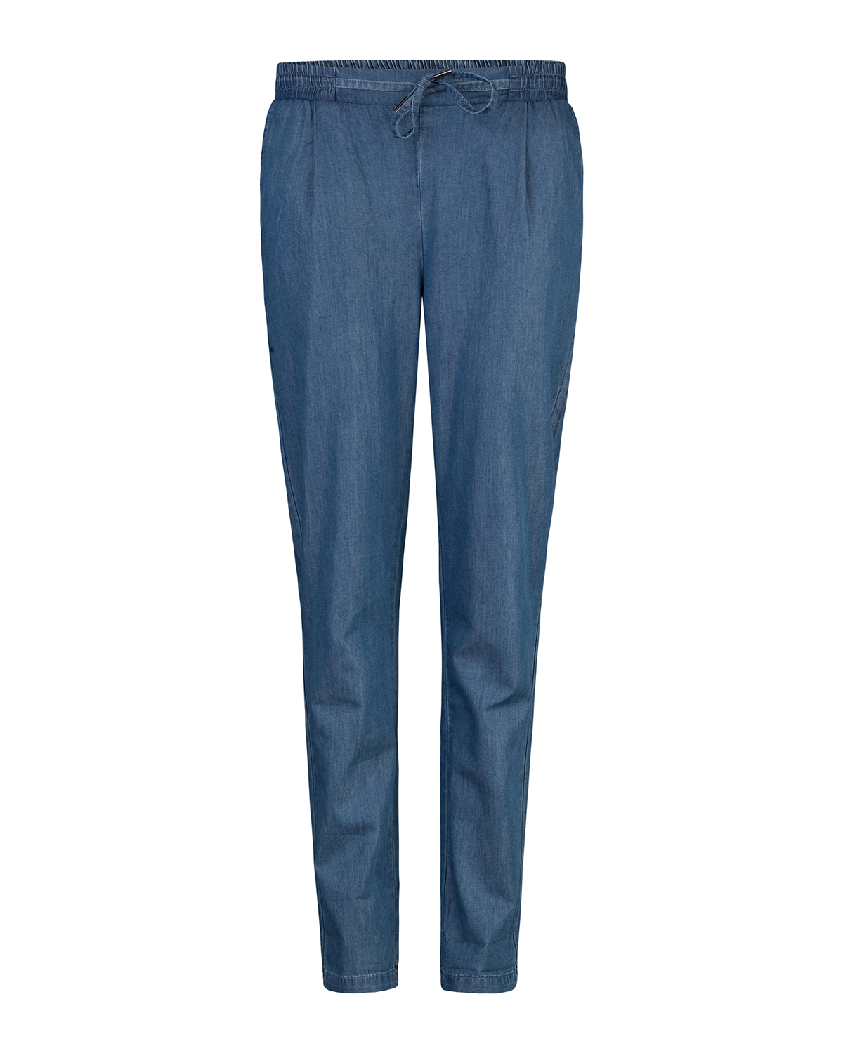Dames mid rise relaxed denim jogger