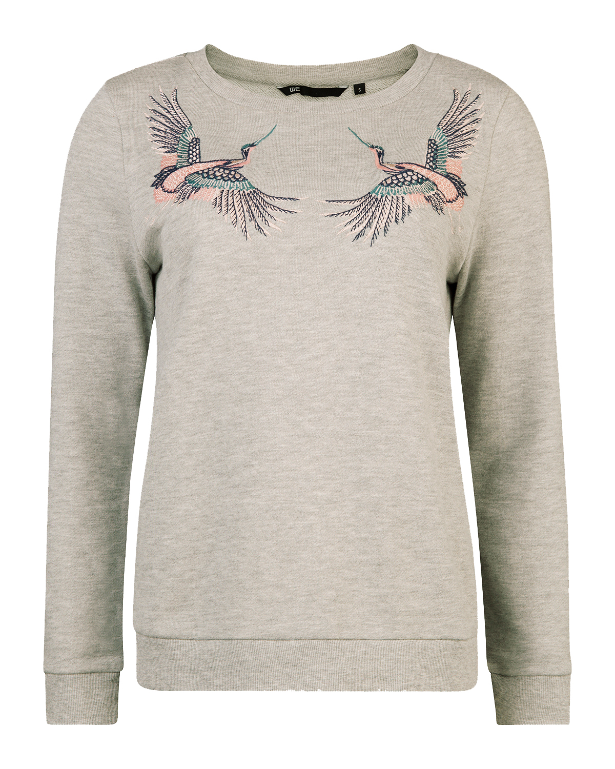 Dames embroidery bird sweater