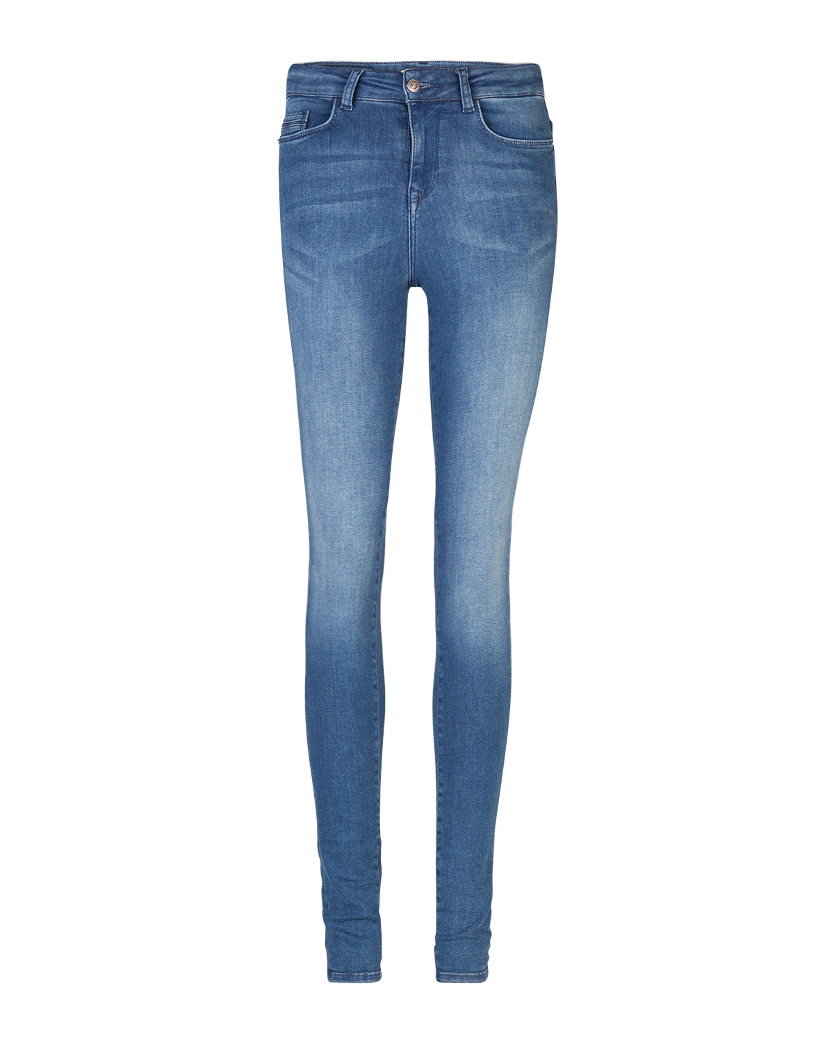 Dames high rise skinny super stretch jeans