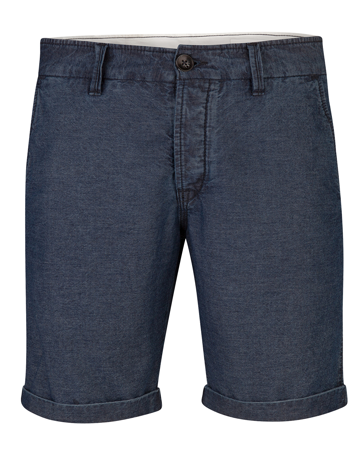 Heren slim fit denim chino short