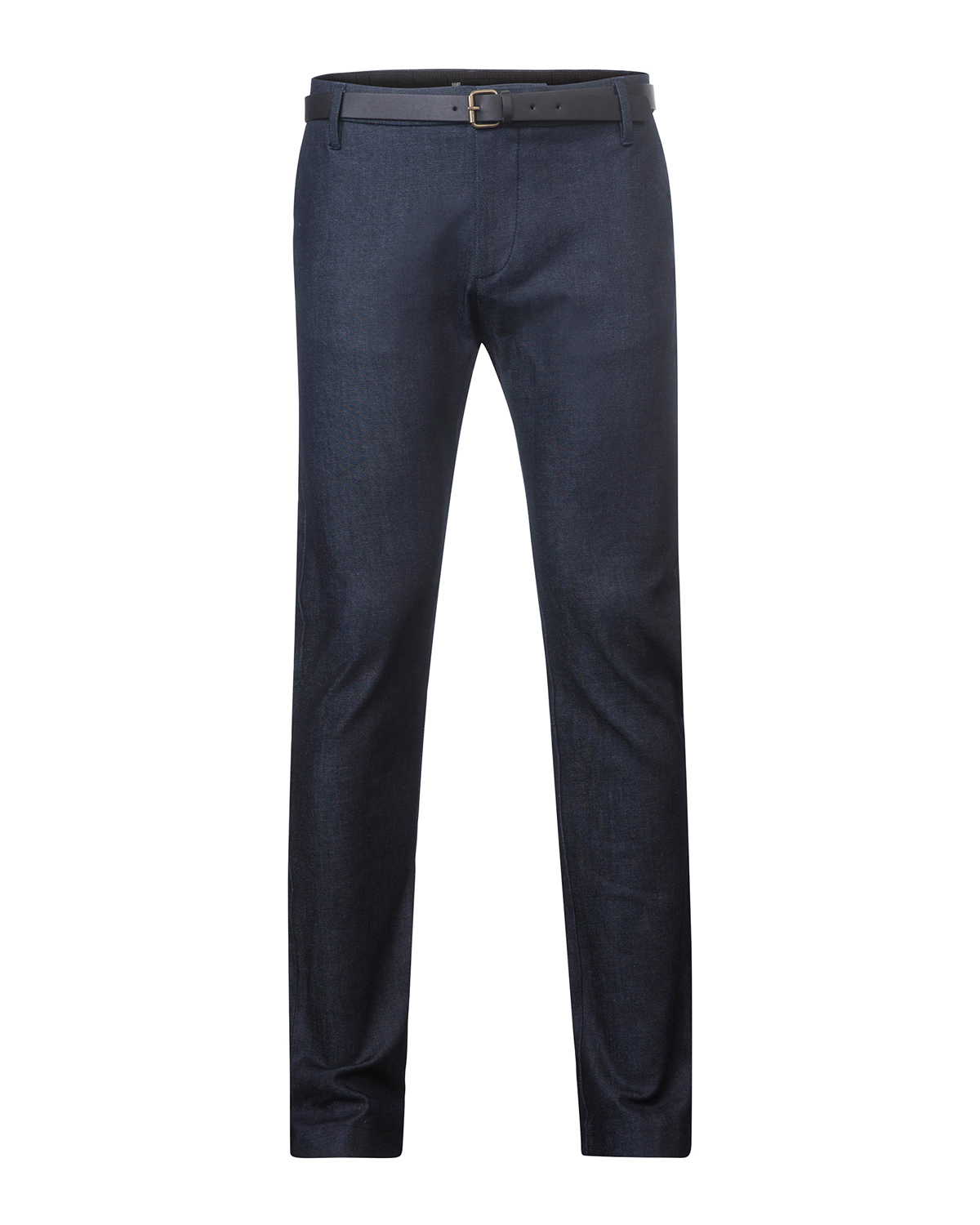 Heren slim fit denim chino