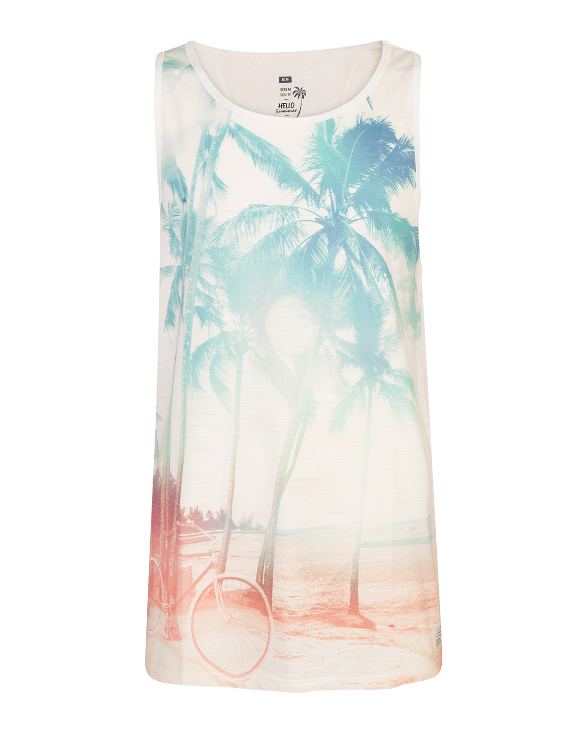 Heren sunset print singlet