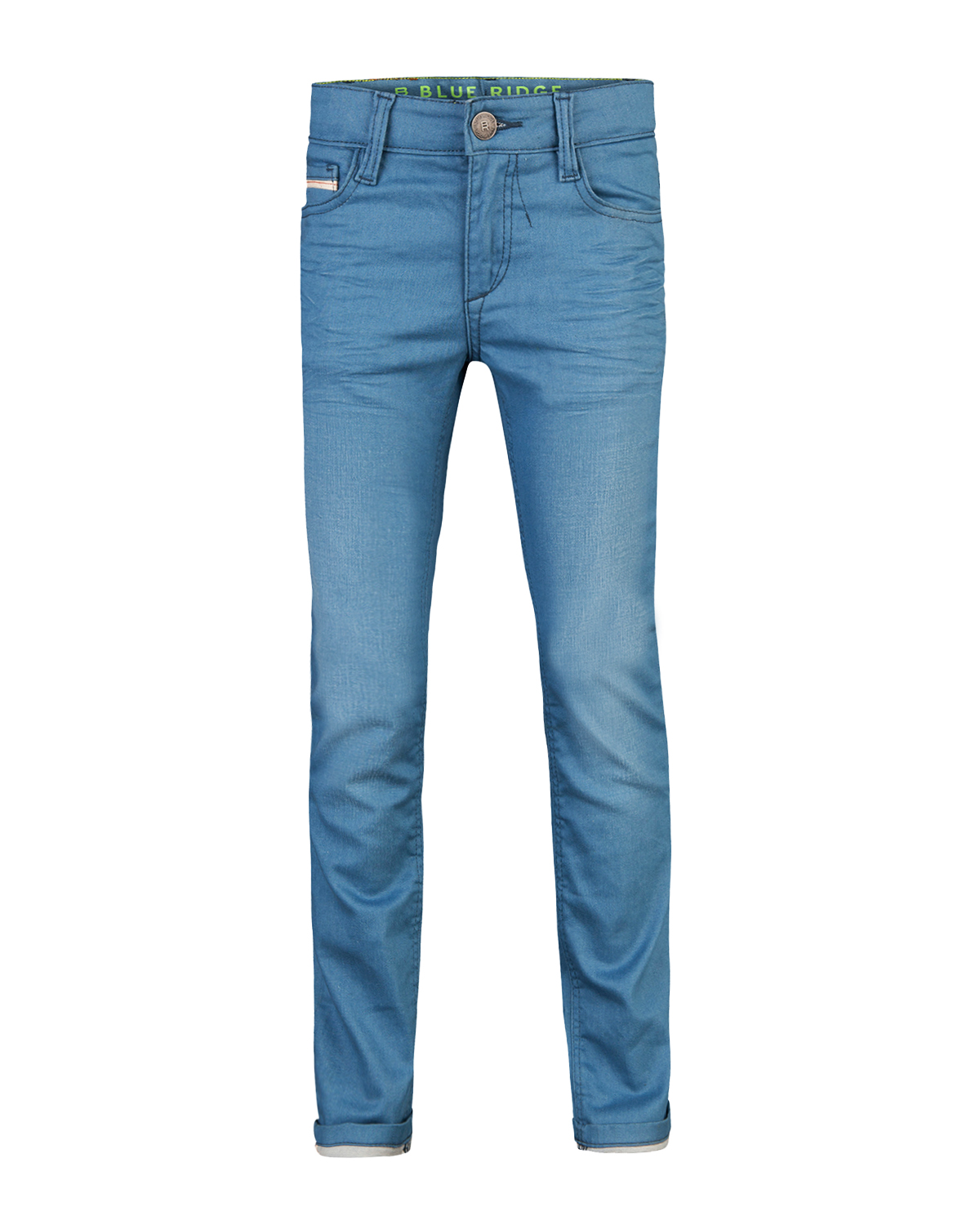 Jongens skinny fit coated jeans