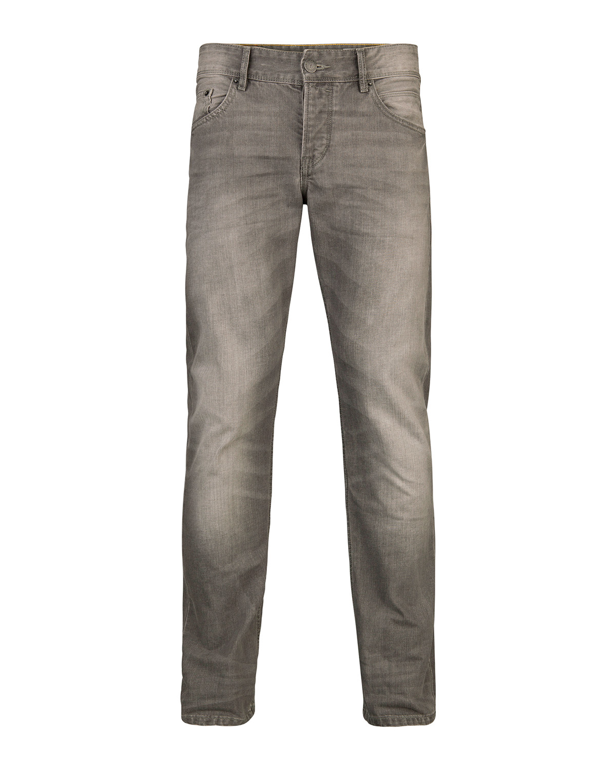 Heren slim straight grey denim jeans