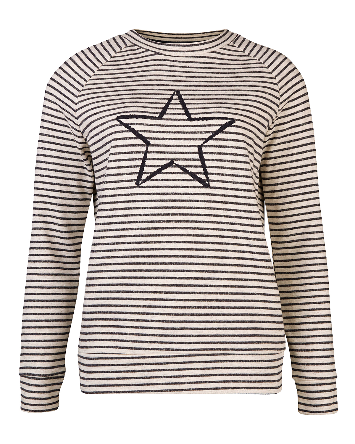 Dames striped star sweater