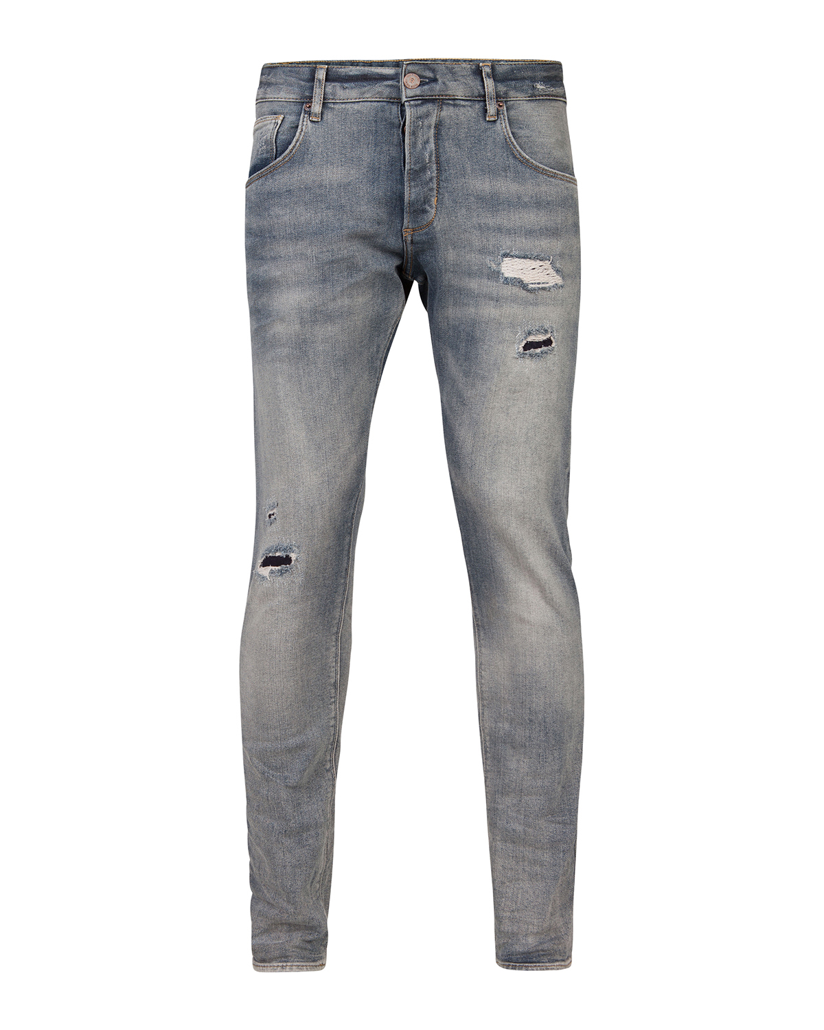 Heren slim tapered selvedge stretch jeans