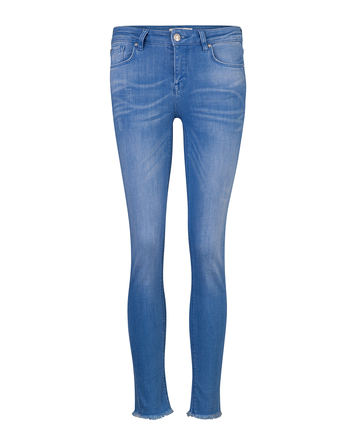 Dames mid rise skinny high stretch cropped jeans