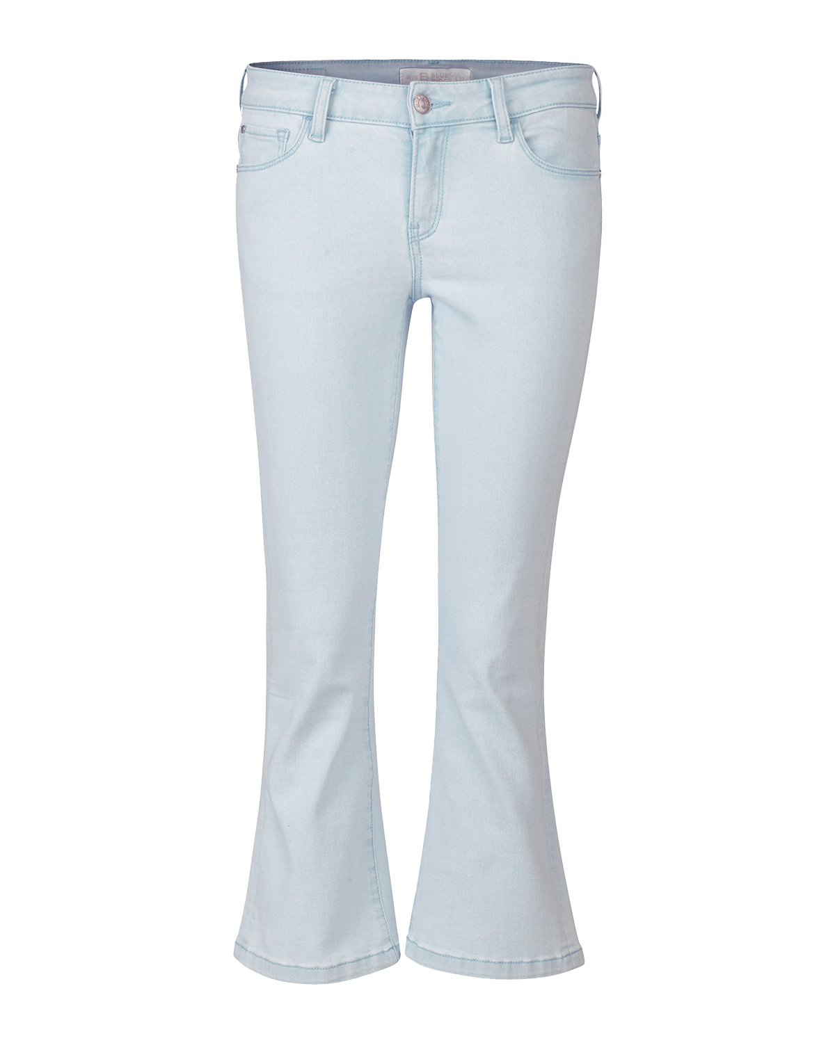 Dames high rise cropped flare bleached jeans