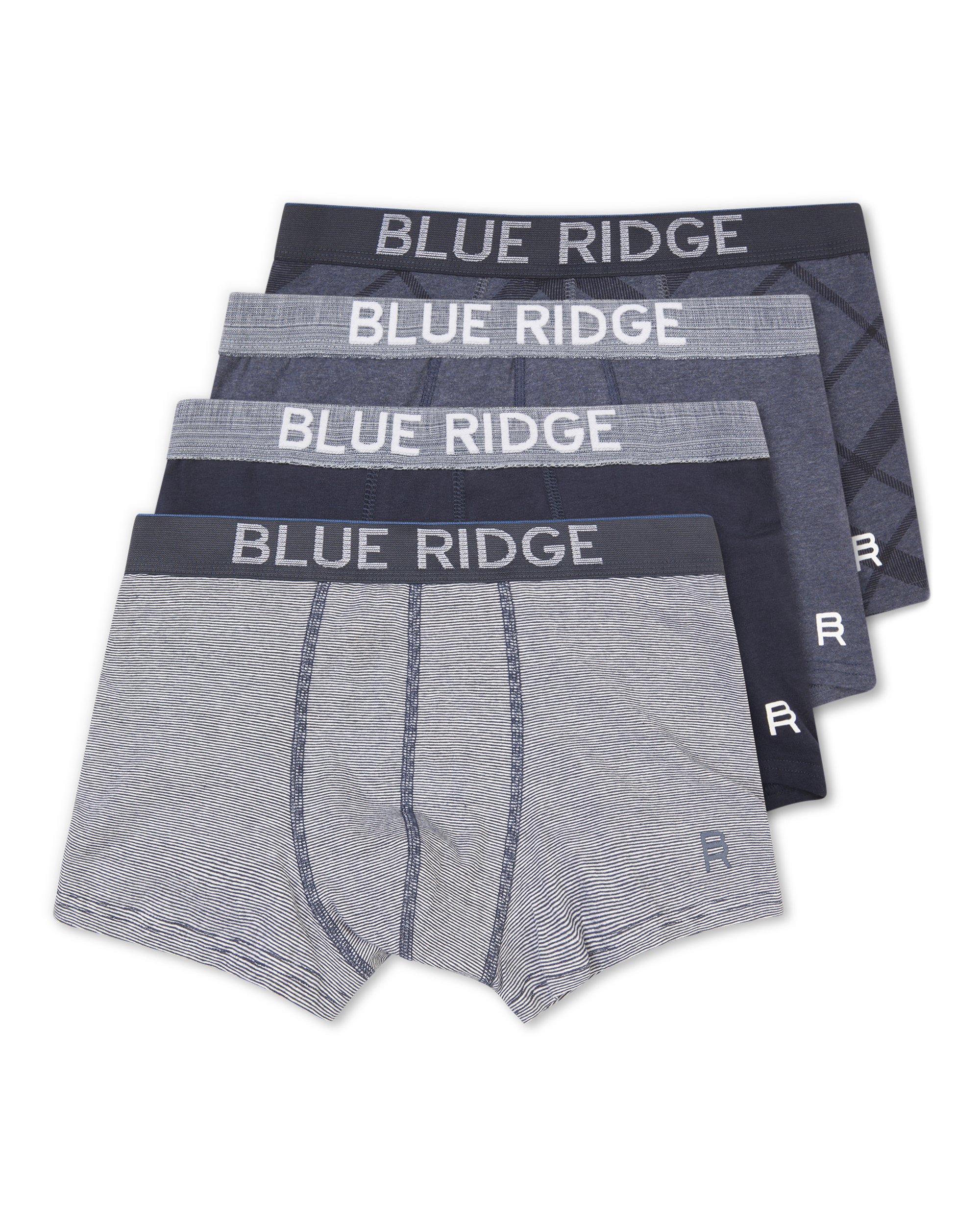 Heren blue ridge boxershorts 4-pack