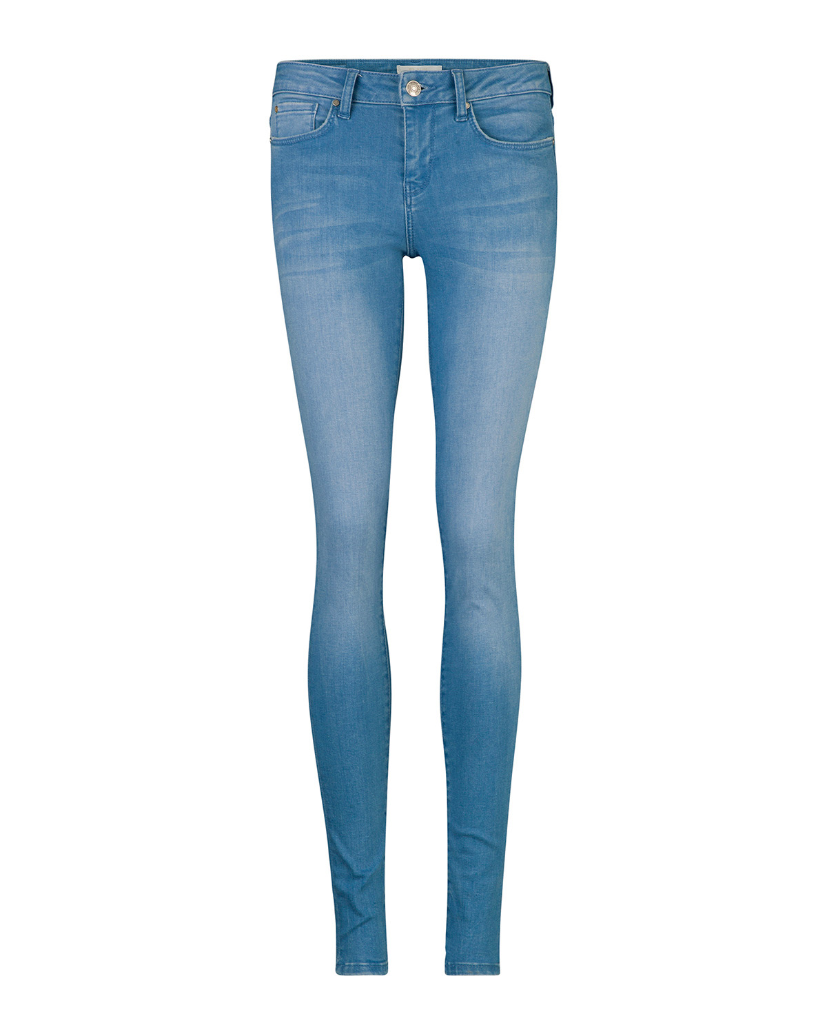 Dames mid rise super skinny high stertch jeans