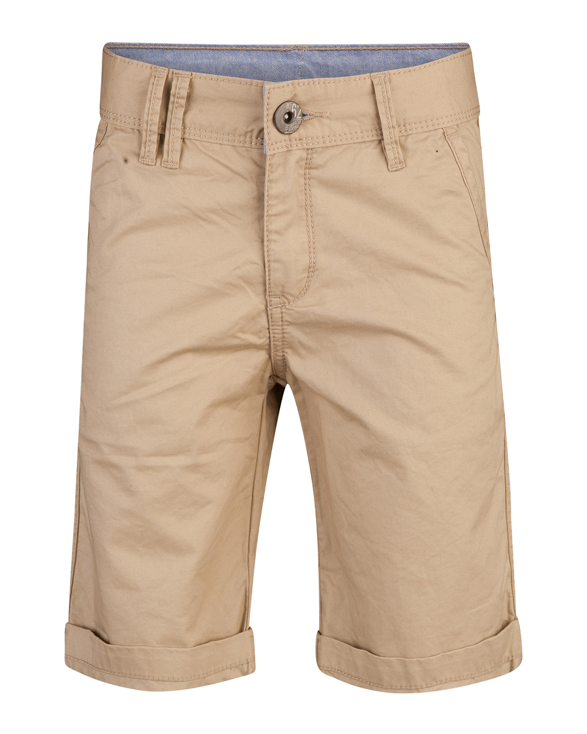 Jongens regular fit garment dye chino short