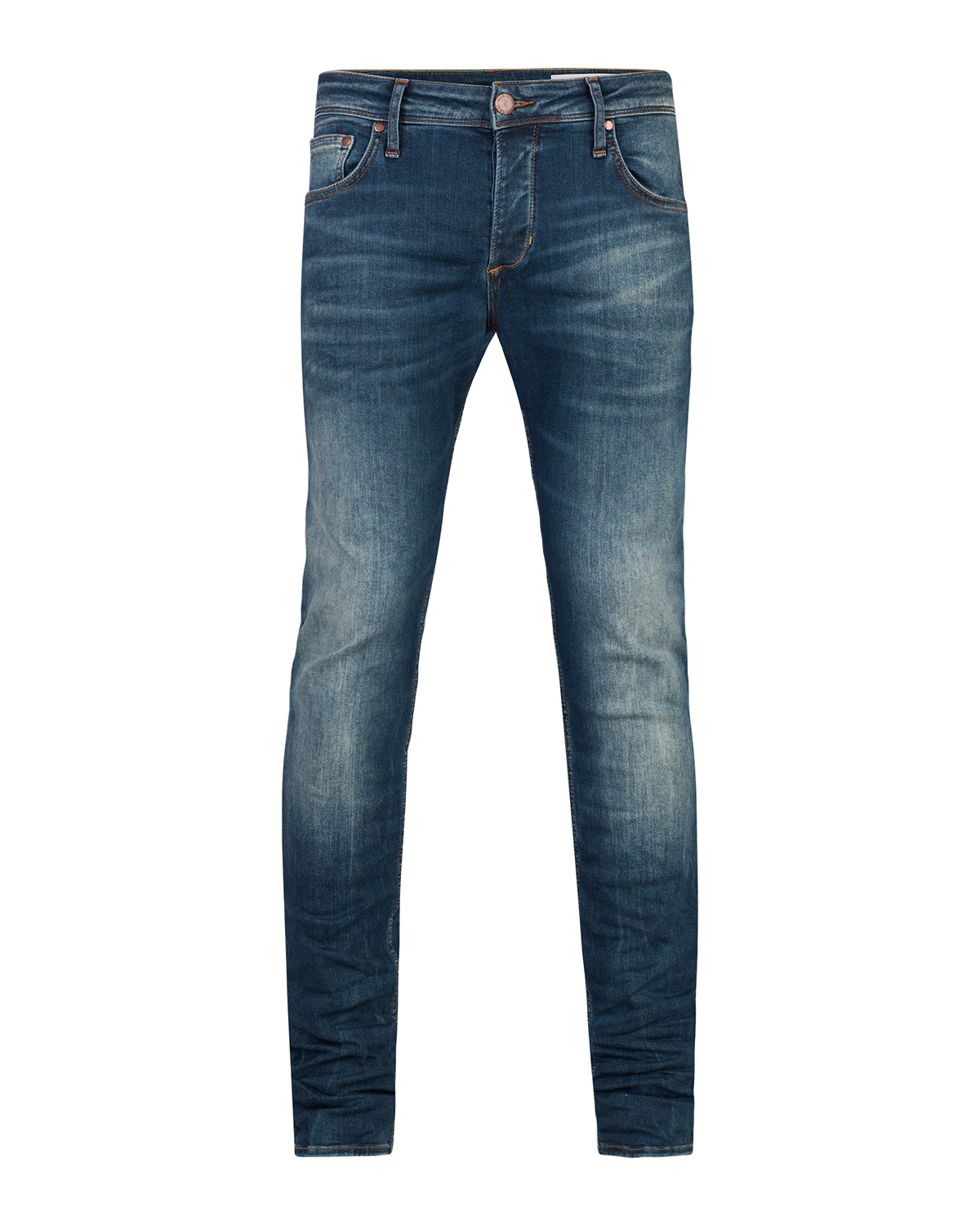 Heren slim tapered super stretch jeans