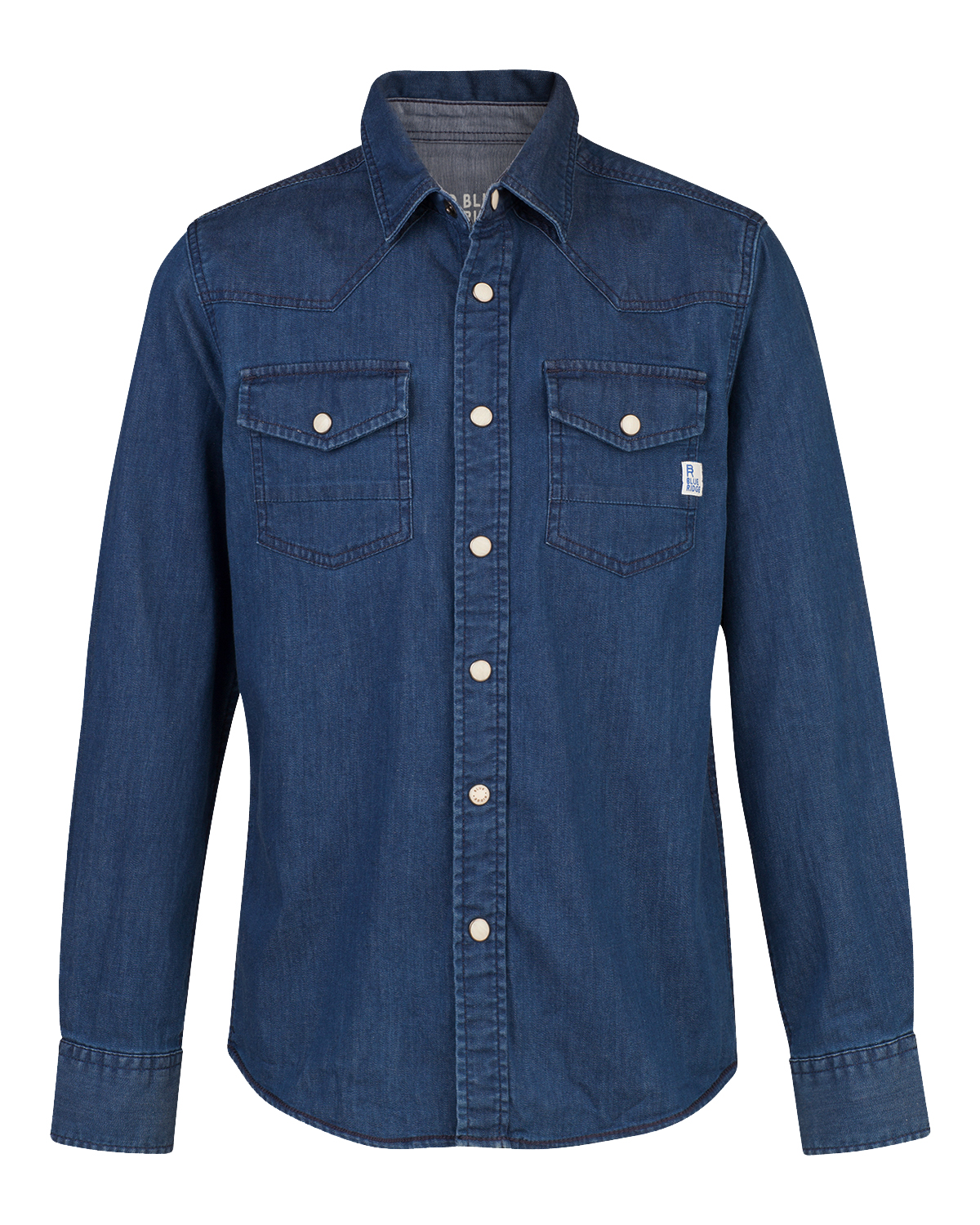 Jongens regular fit denim overhemd