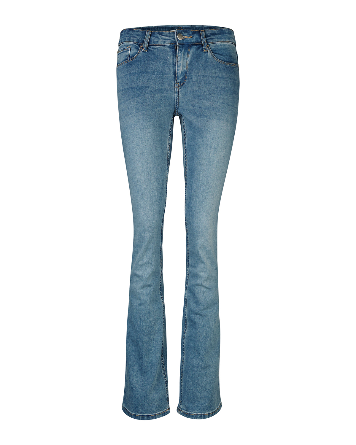 Dames skinny fit flare jeans