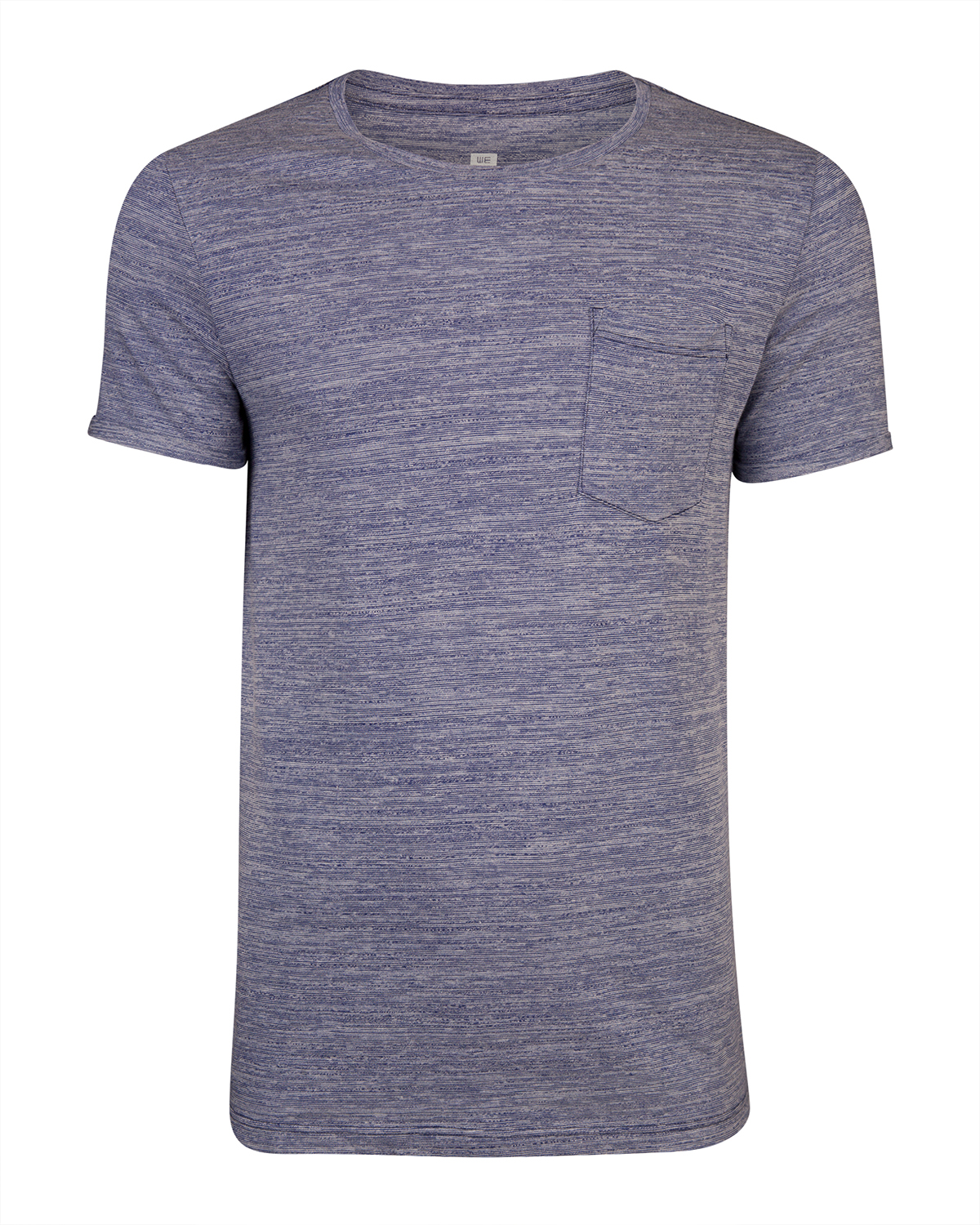 Heren one-pocket melange t-shirt