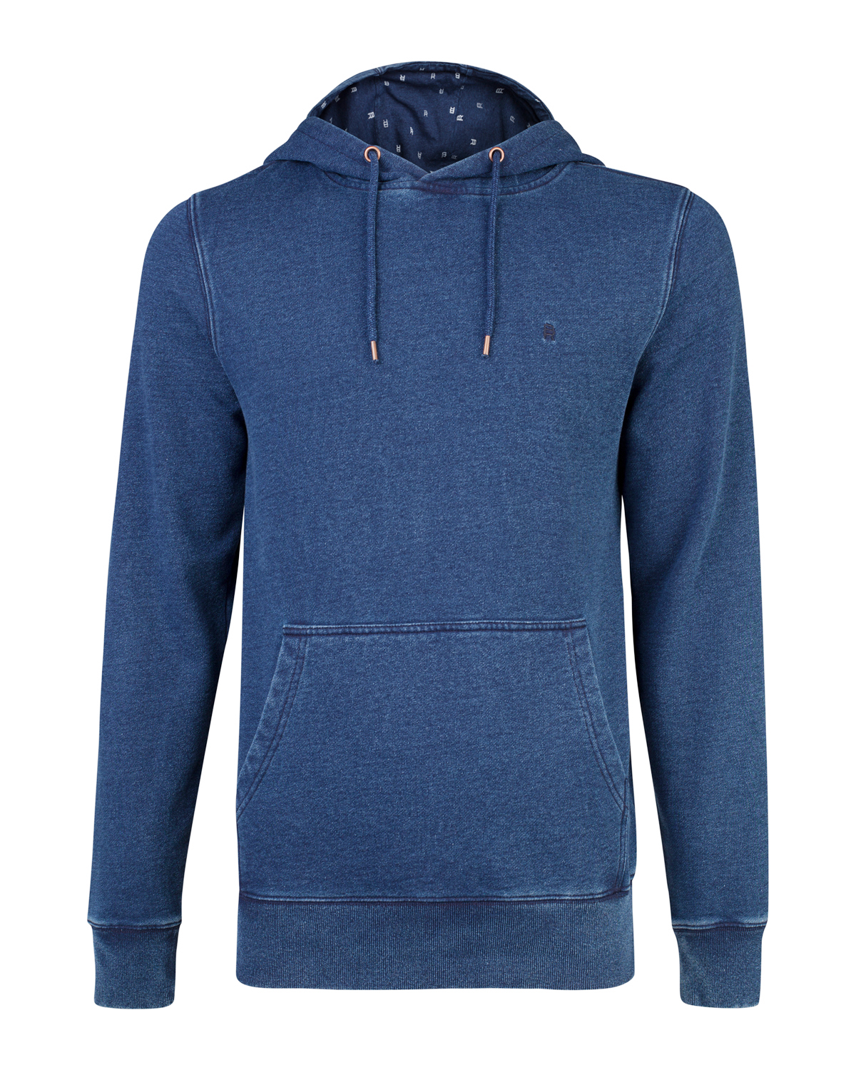Heren blue ridge denim look sweater