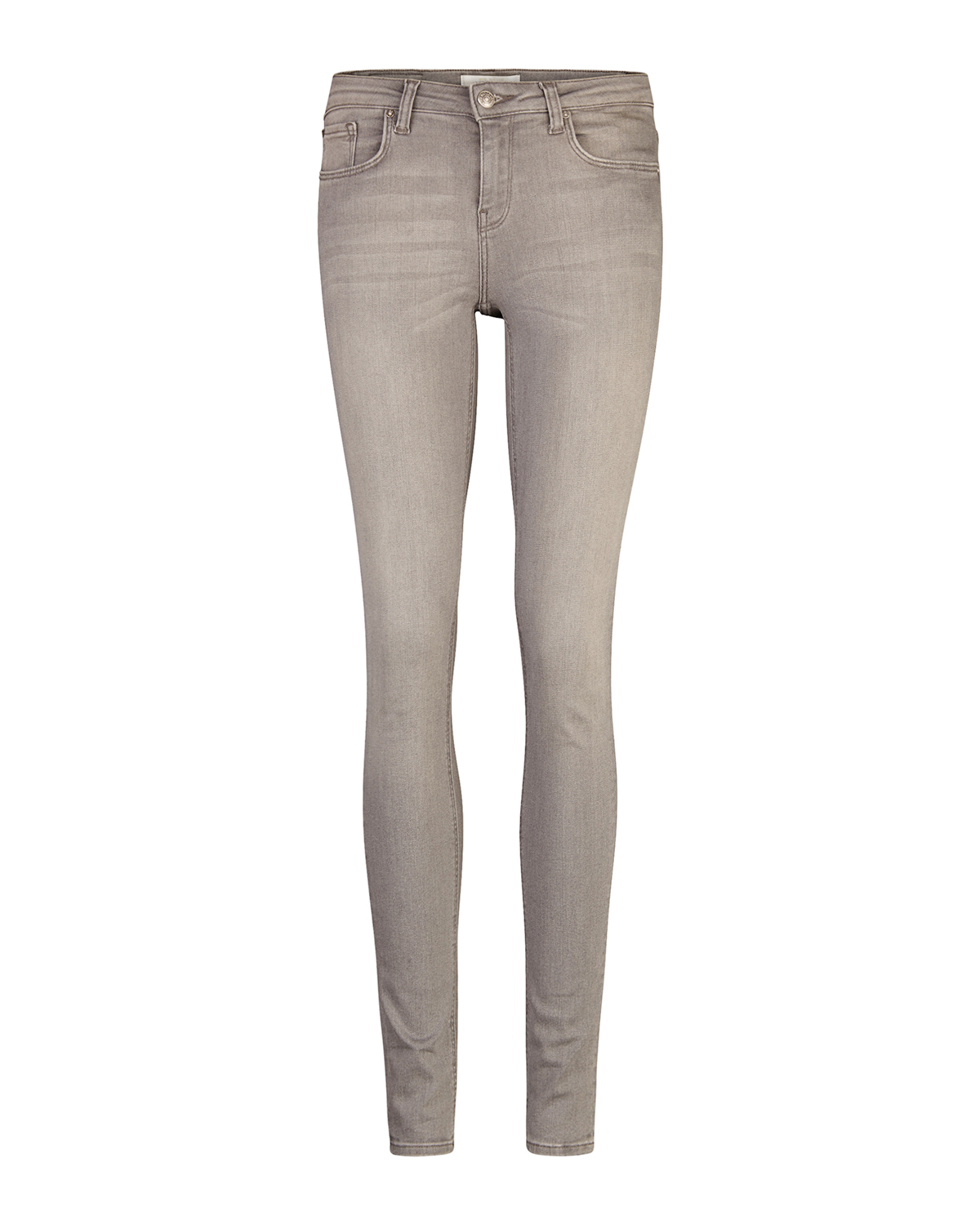 Dames mid rise skinny super stretch jeans