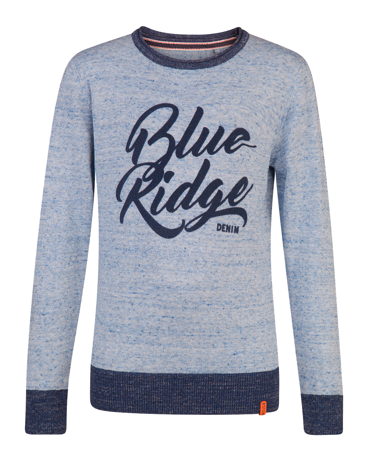 Jongens blue ridge print sweater