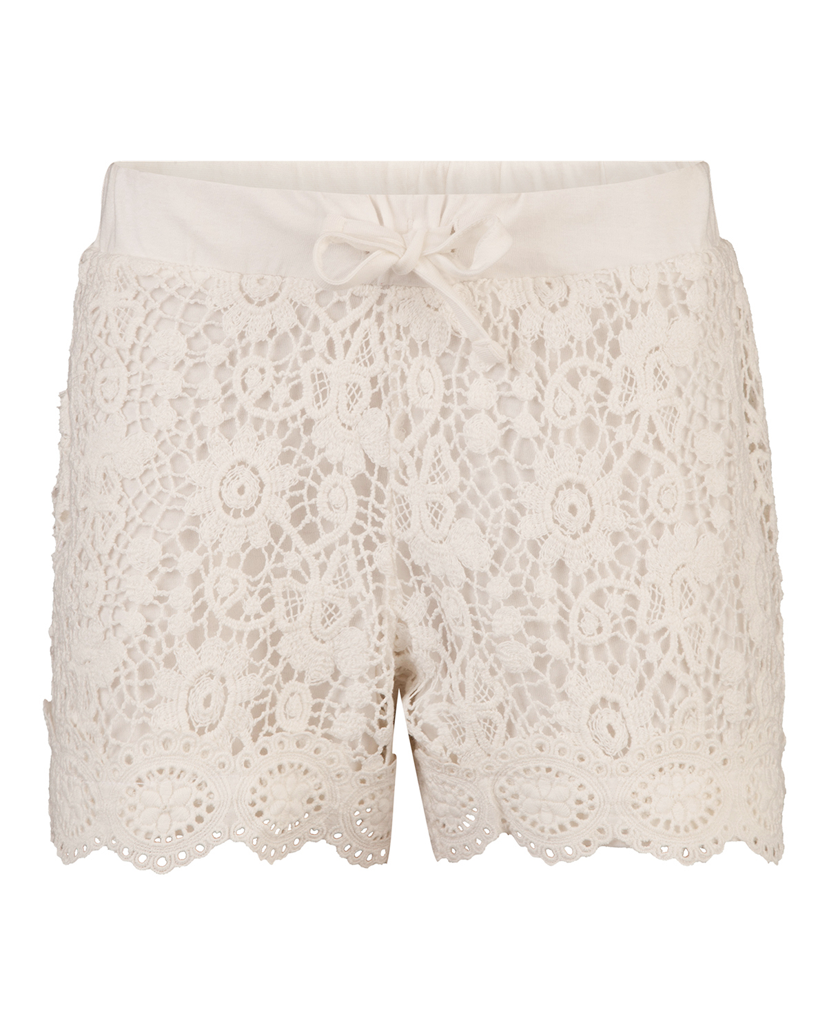 Meisjes lace sweat short
