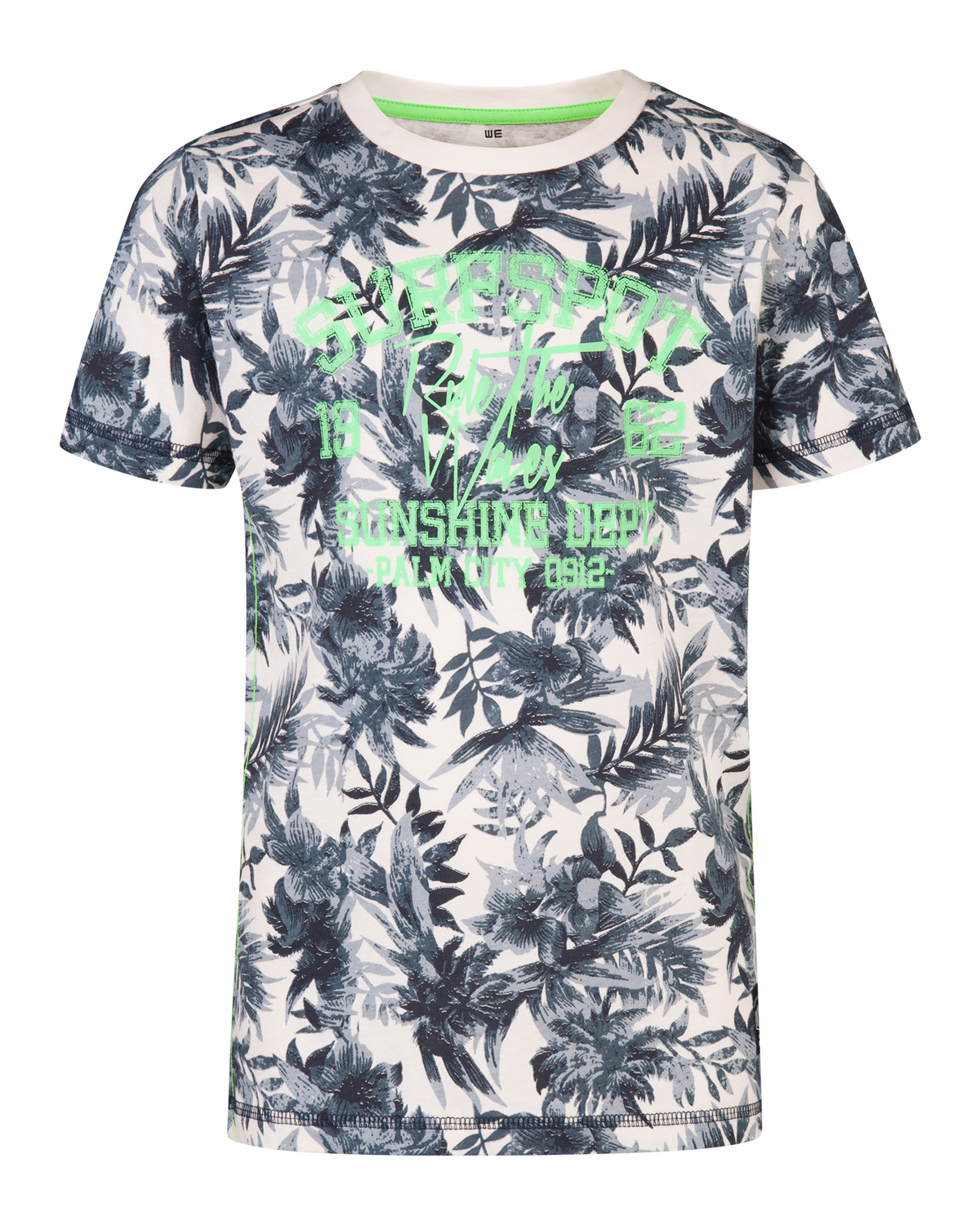 Jongens palm tree print t-shirt