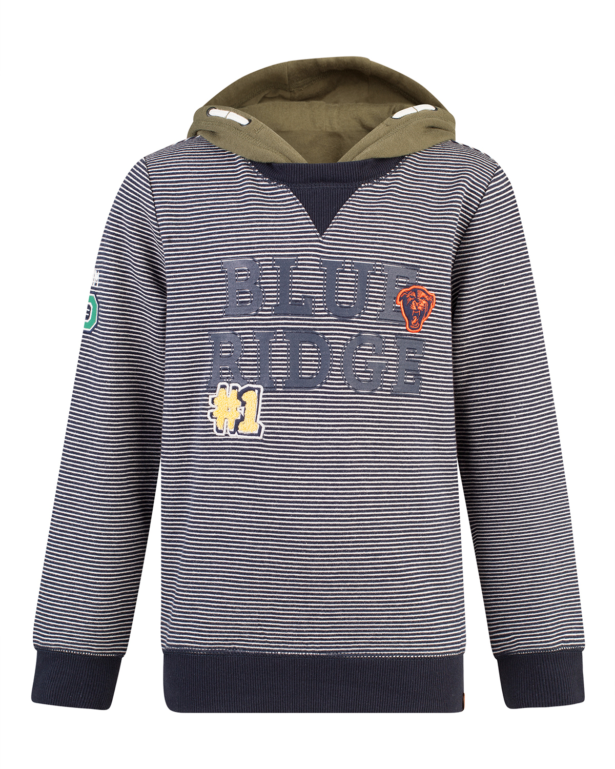 Jongens double look blue ridge sweater