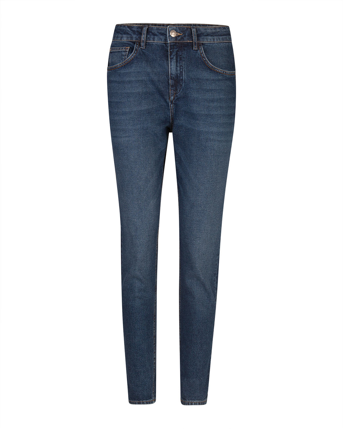 Dames high rise tapered girlfriend comfort stretch jeans