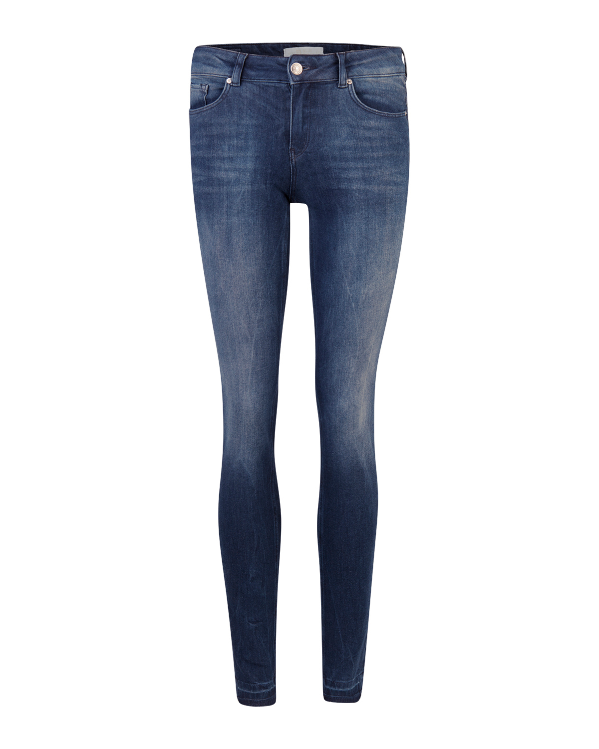 Dames mid rise skinny 360° stretch jeans