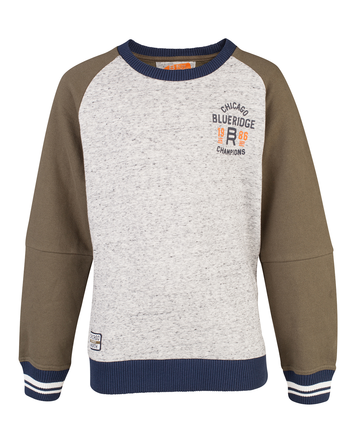 Jongens blue ridge raglan sweater