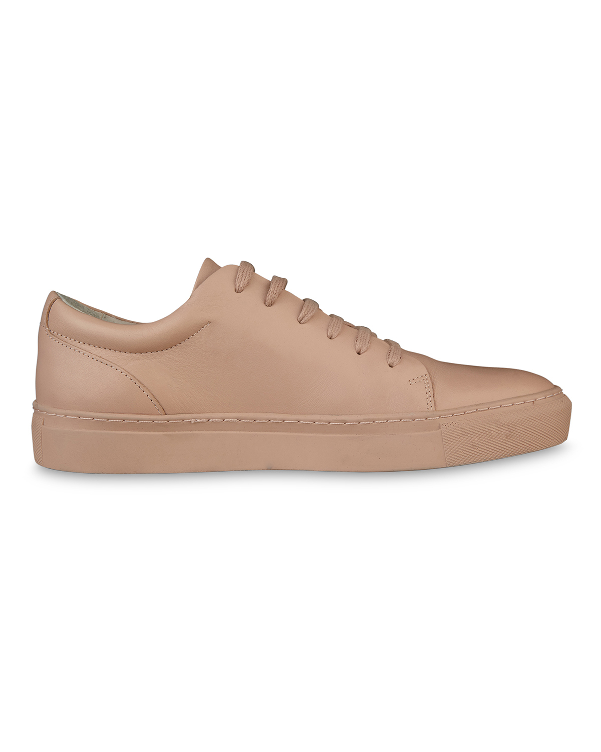 Dames solid real leather sneakers
