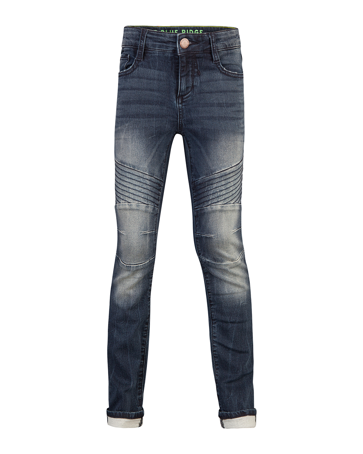 Jongens skinny fit biker jog denim