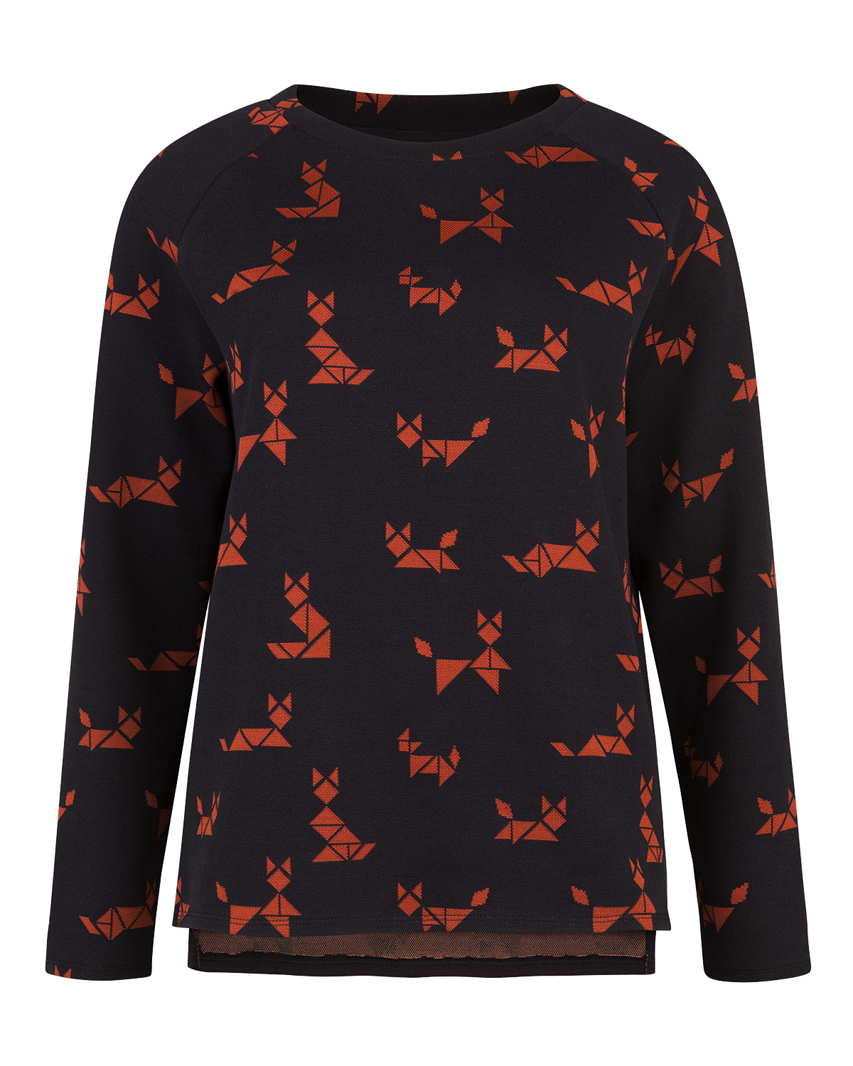 Dames graphic cat print sweater