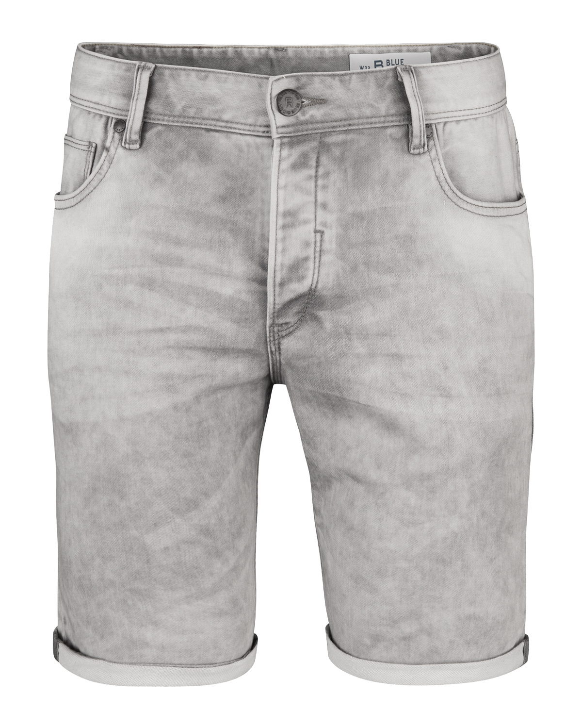 Heren regular straight jog denim short