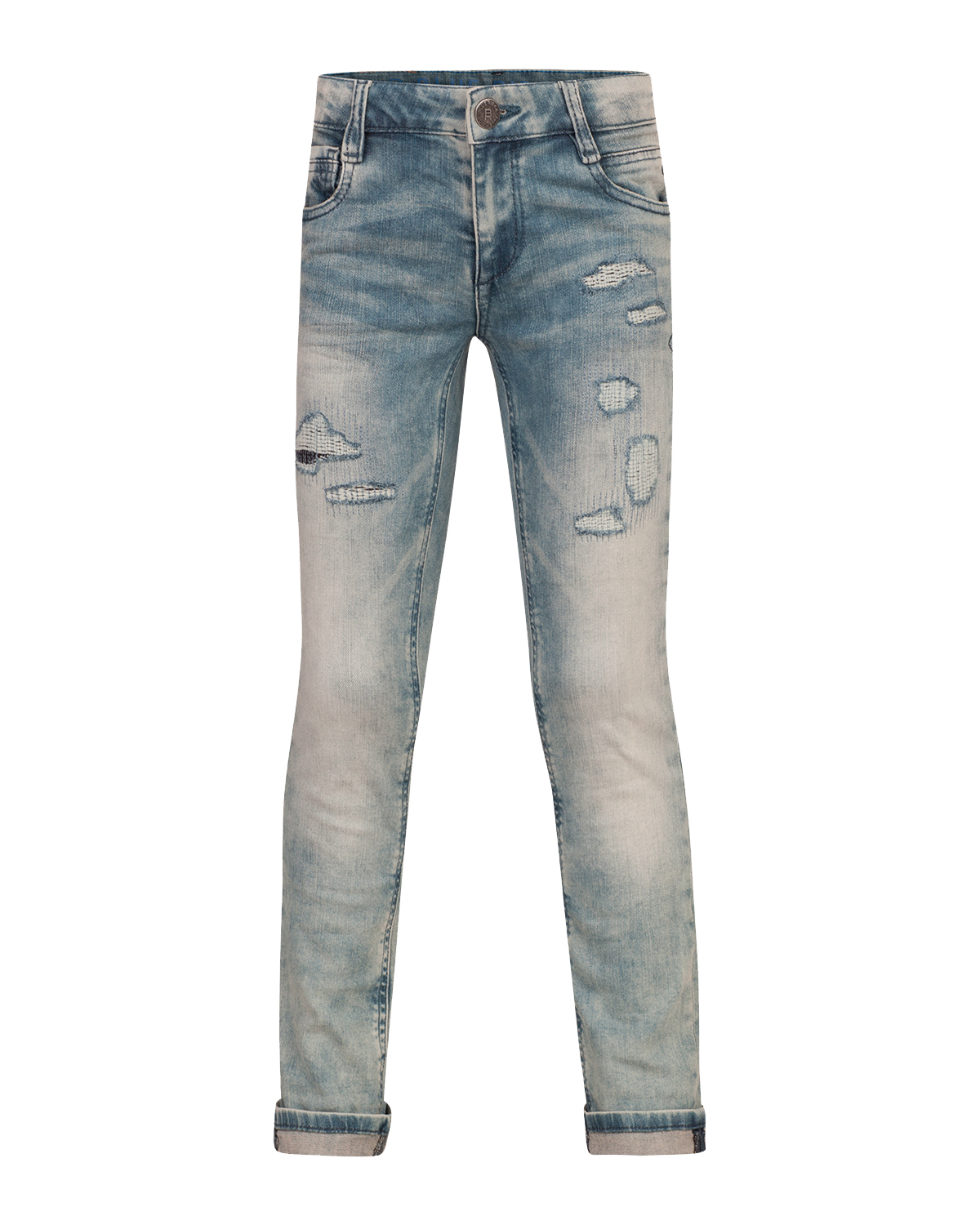 Jongens skinny stretch rip  and  repair jeans