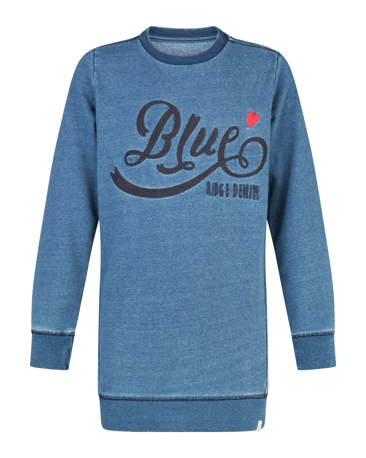 Meisjes blue rigde sweater dress