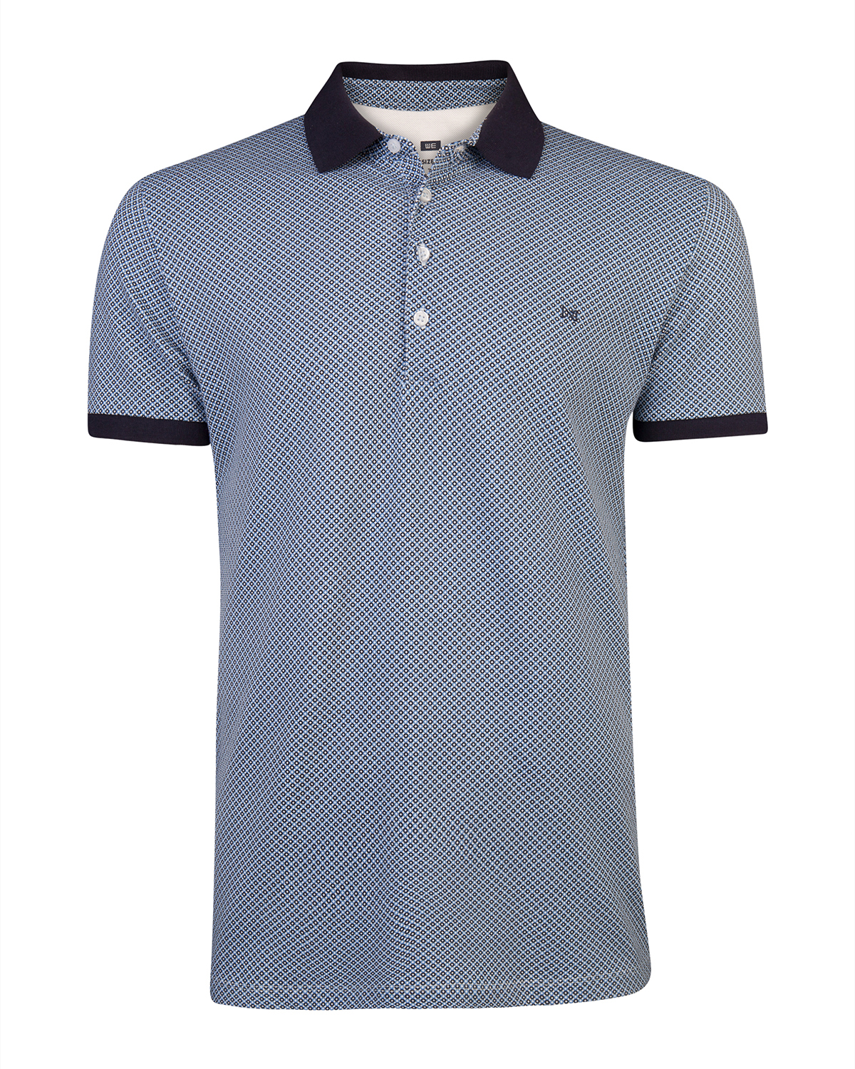 Heren graphic print poloshirt