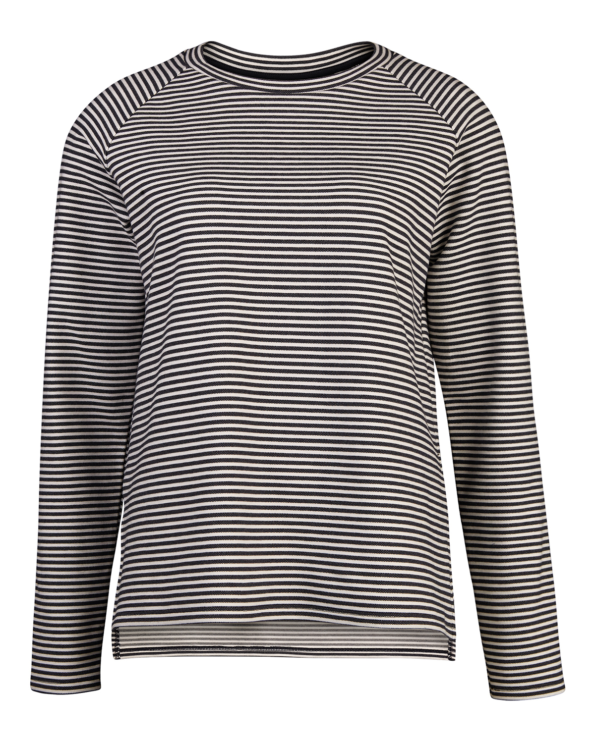 Dames navy jacquard stripe sweater