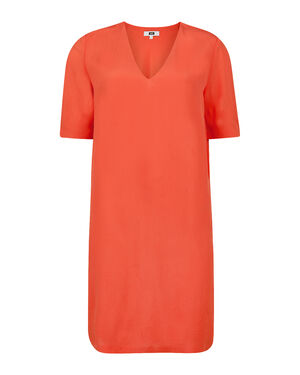 DAMES V NECK SOLID JURK