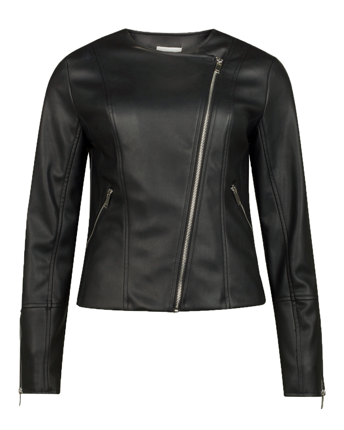 Dames leather look jacket