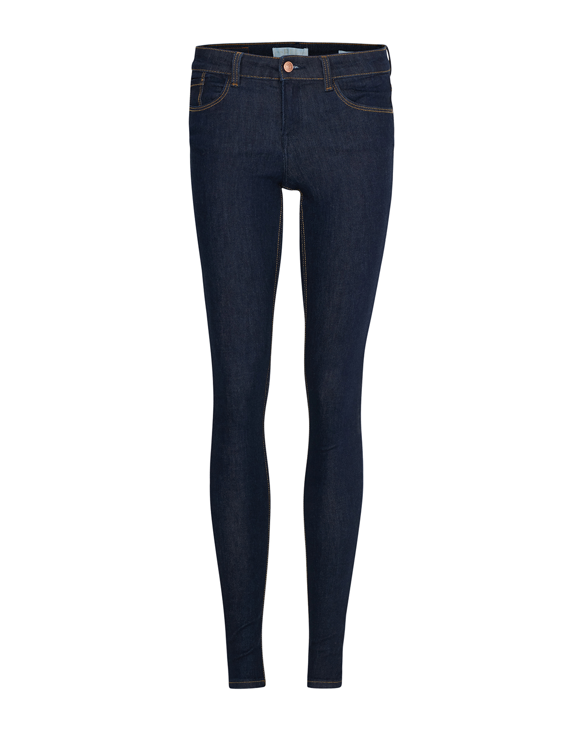Dames mid rise super skinny high stretch jeans