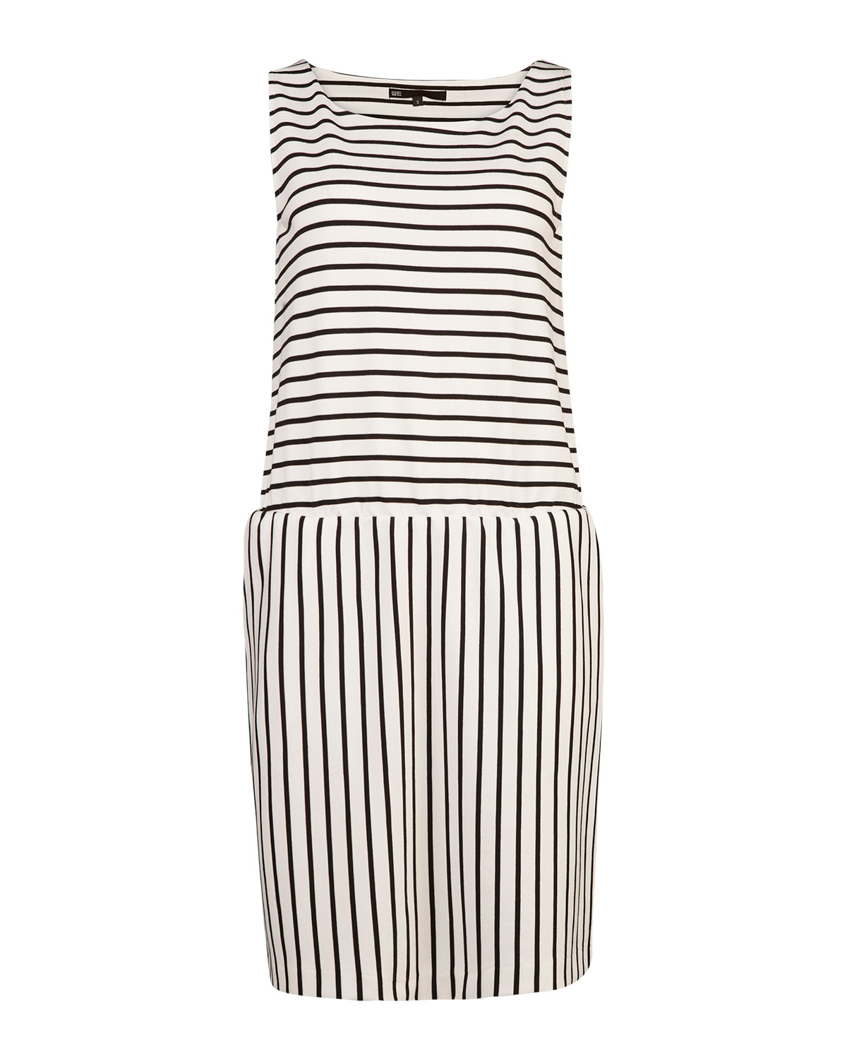 Dames sleeveless stripe jurk