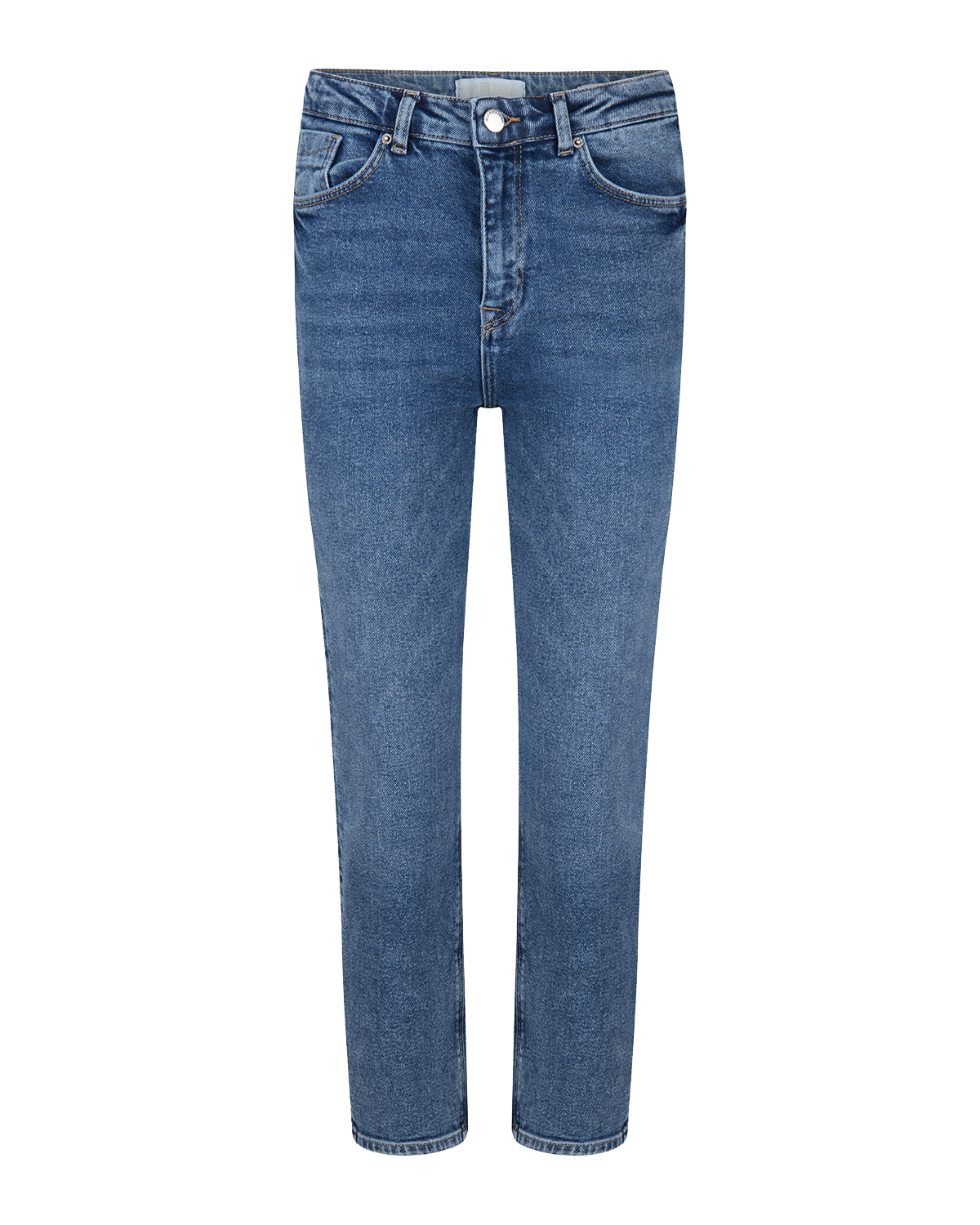 Dames high rise straight leg cropped jeans