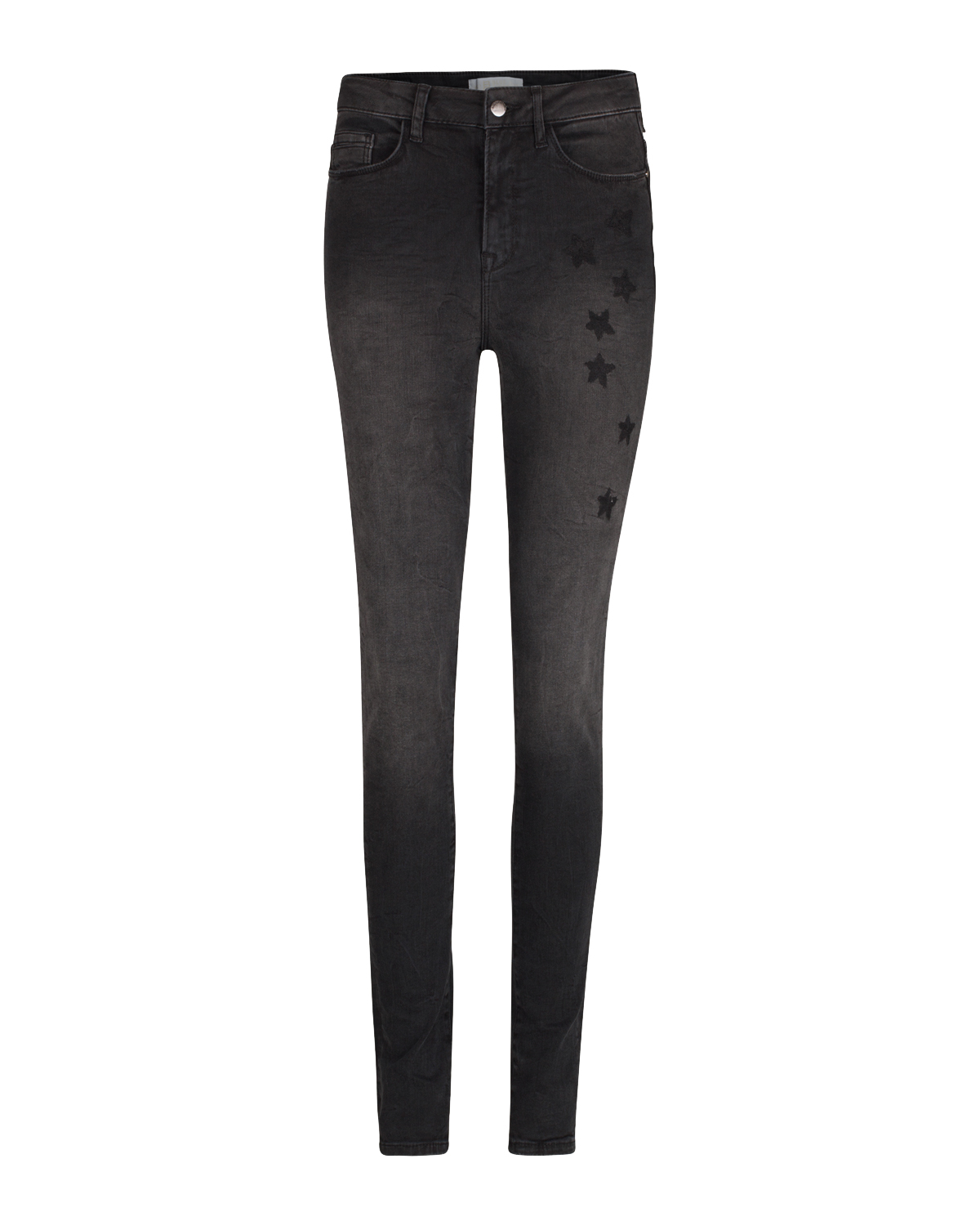 Dames high rise embroidery skinny jeans