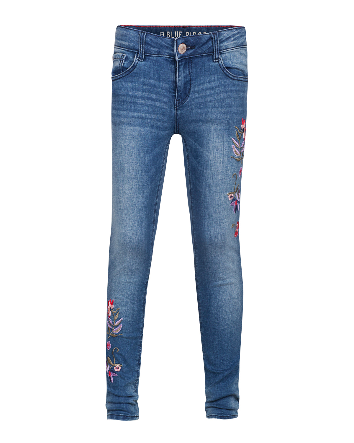 Meisjes super skinny super stretch embroidery jeans