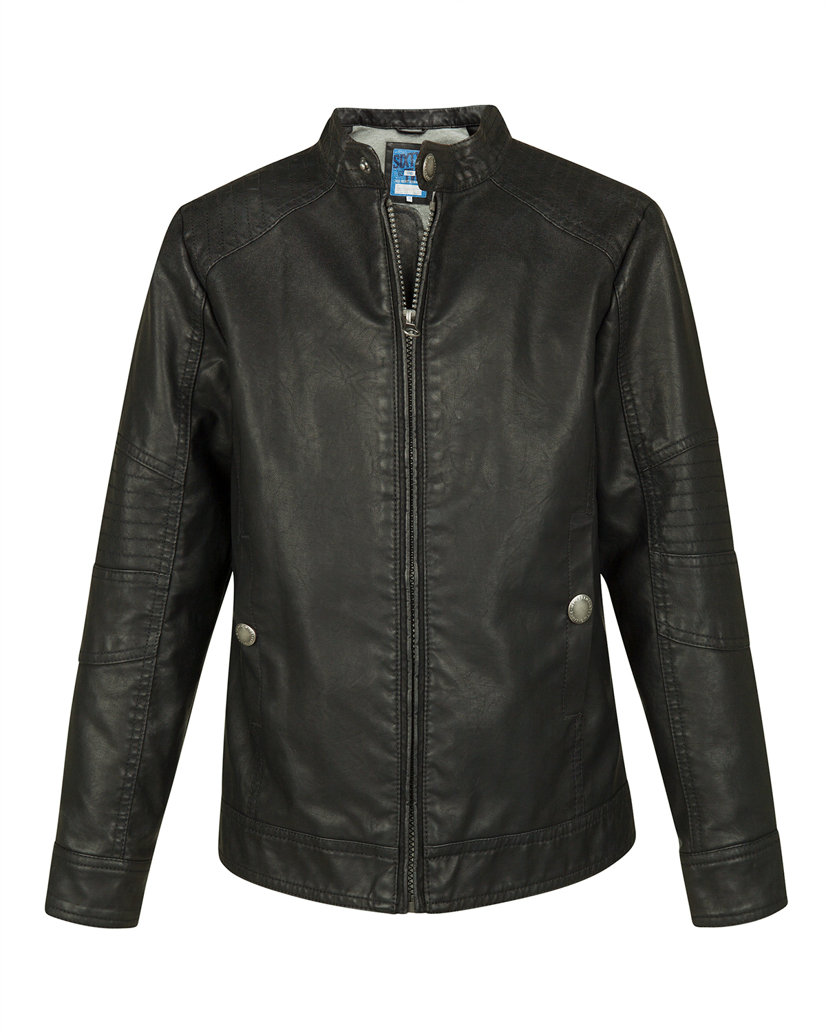 Jongens faux leather biker jacket