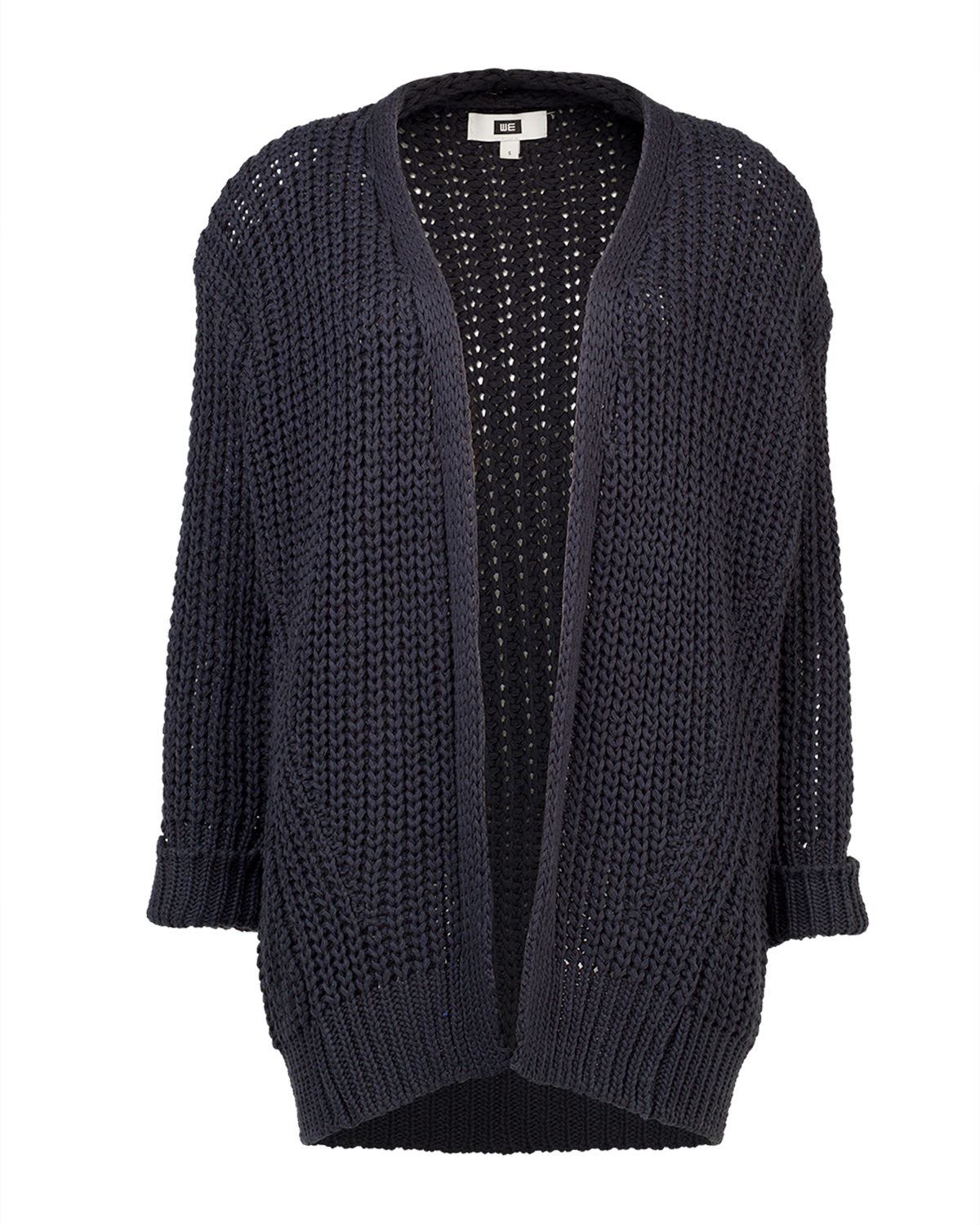 Dames knitted open front vest