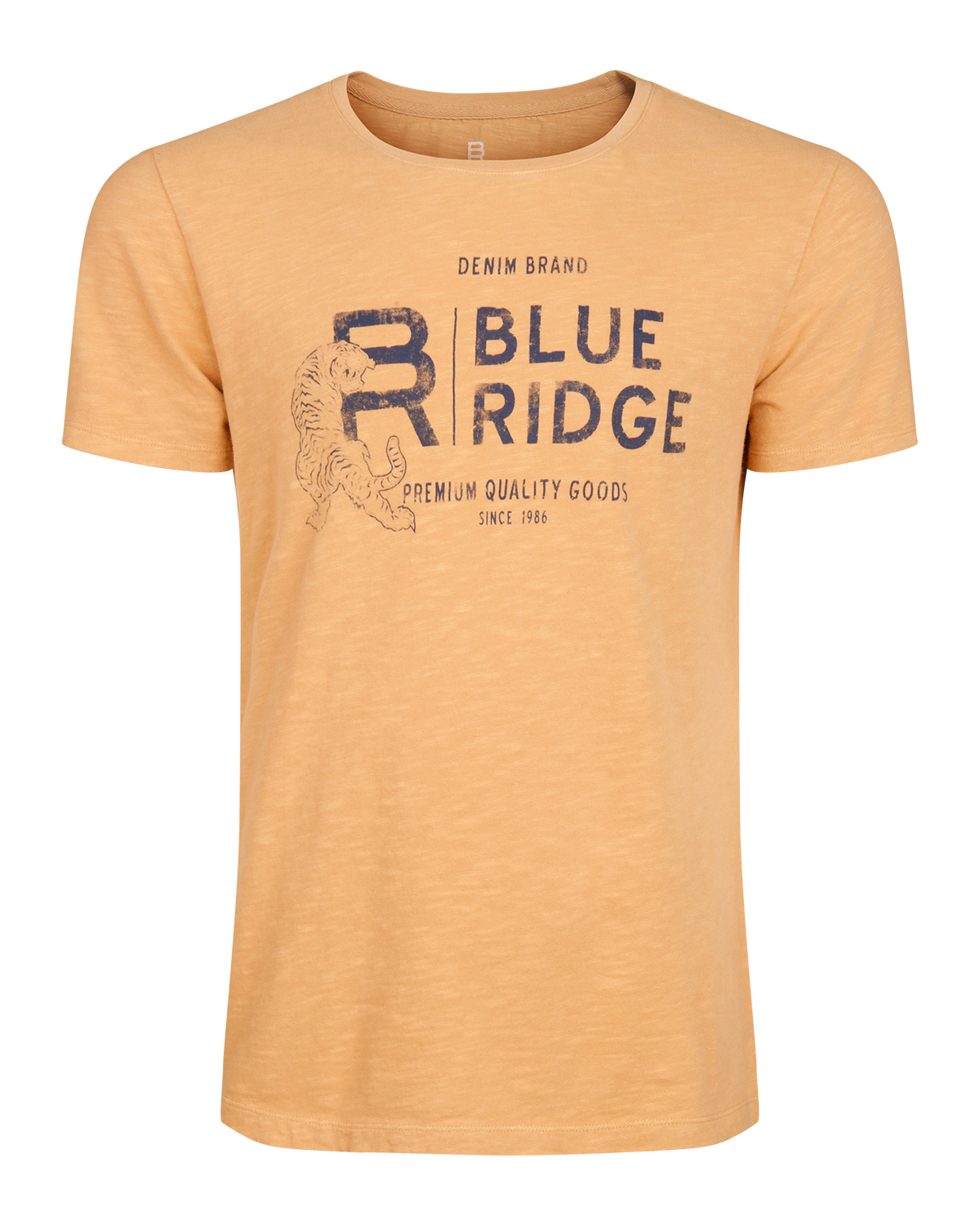 Heren blue ridge garment dyed tiger t-shirt